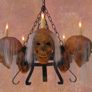 Costume props explore our creepy professional props chaotic corpsed head chandelier mozeypictures Choice Image