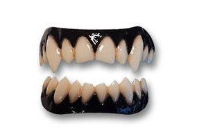 Dental distortions darkness vampire teeth